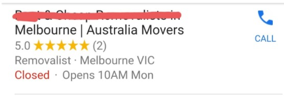 Melbourne moving company with 2 reviews only