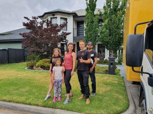 Prahran to Patterson Melbourne moving job Dec 2020 Happy family after finishing the house moving